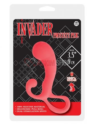 Invader Prostate Red Anal Plug